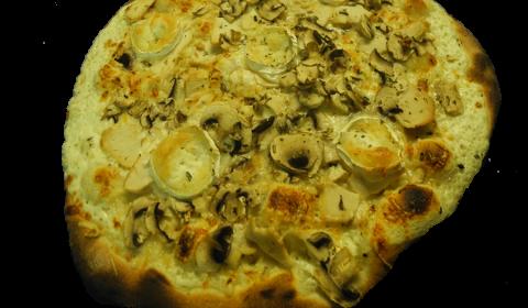 Pizza chevre blanche