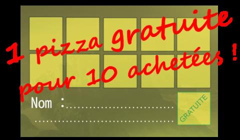 Une pizza gratuite